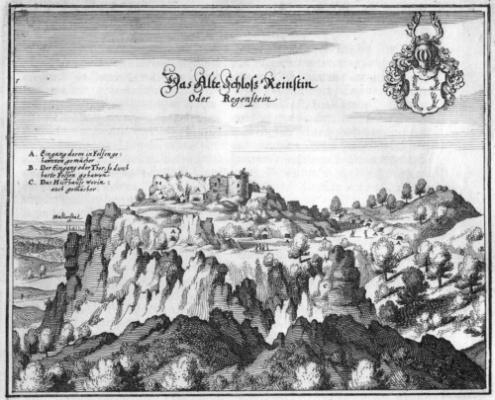 Das Alte Schloß Reinstin (Mattäus Merian)