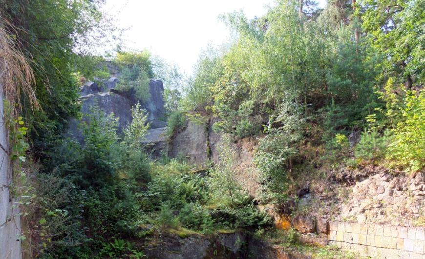 Torgraben der Festung Regenstein (Foto: 2013)
