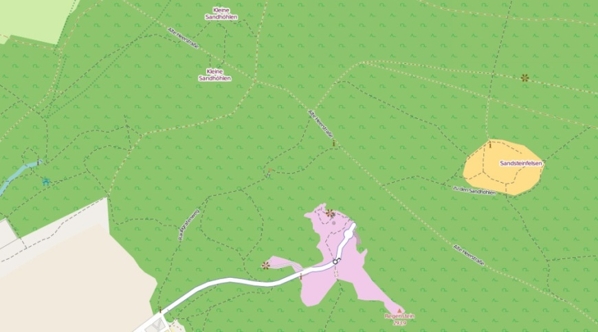 Regenstein - Sandsteinhöhlen (OpenStreetMaps-Daten)