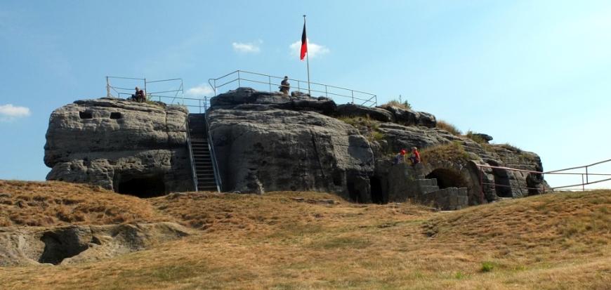 Burg Regenstein, die Aussichtsplattform.