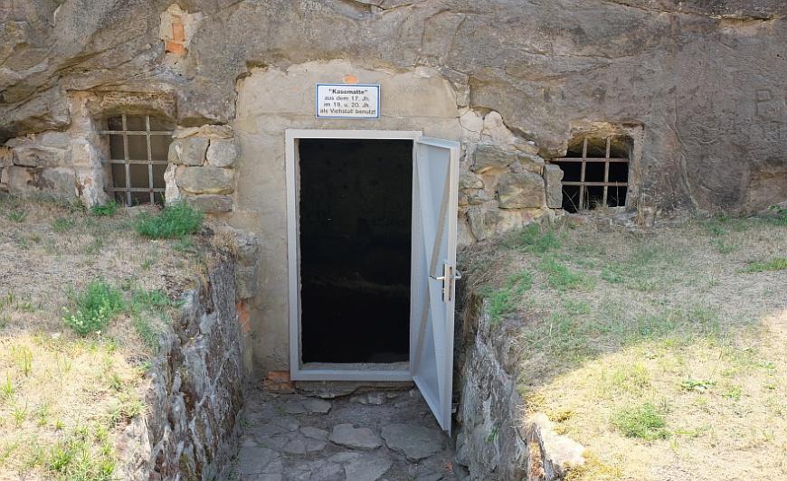 Festung Regenstein - eine der in den Felsen gehauenen Kasematten. (Foto: 2018)
