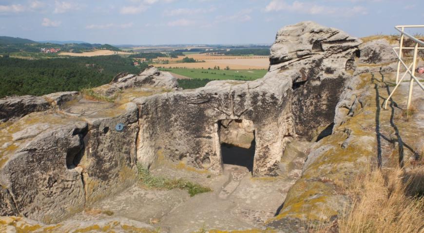 Burg Regenstein, Felsenhöhlen.