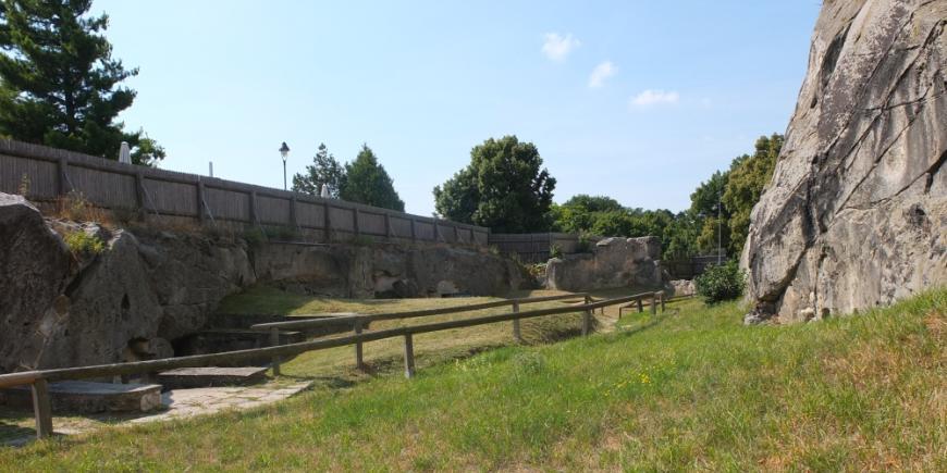 Burg Regenstein, Aufgang zur Hauptburg.