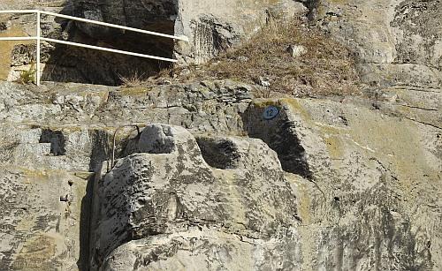 Burg Regenstein - Auflager der Brücke Tor 4.