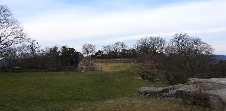 Festung Regenstein, Blick zur Bastion Friederichsburg.