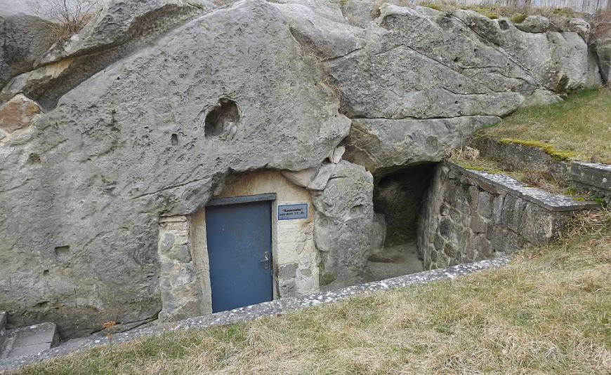 Festung Regenstein - Eingang zu einer Kasematte.