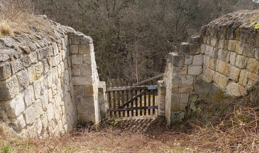 Festung Regenstein - Infanterieausgang an der Bastion Friederichsburg.