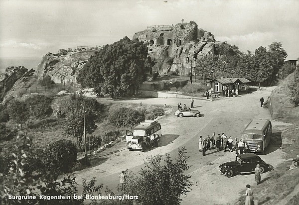 Postkarten und alte Fotos vom Regenstein
