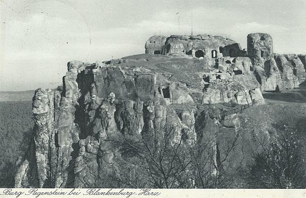 Postkarte vom Regenstein 1937