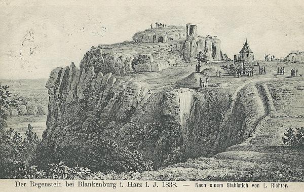 Postkarte vom Regenstein 1941