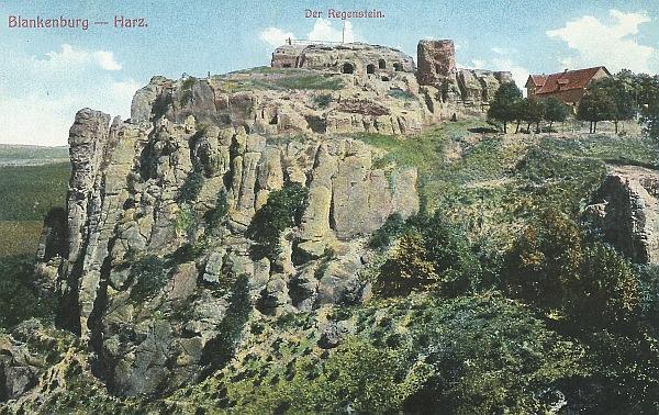 Postkarte vom Regenstein 1963