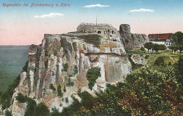 Postkarte vom Regenstein 19xx