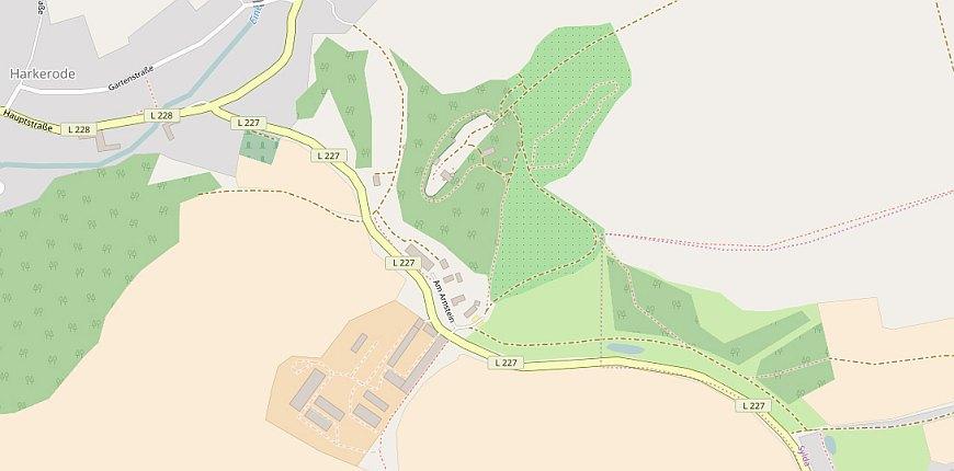 Anfahrt zur Burgruine Arnstein (Karte erstellt aus OpenStreetmap.org)