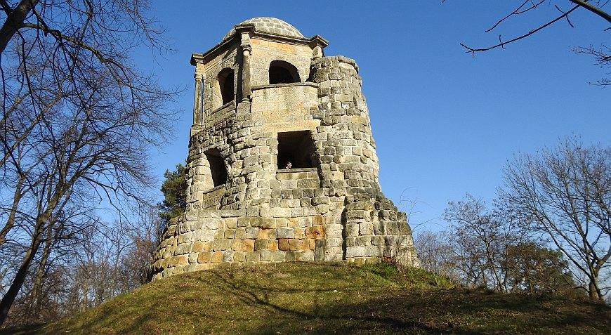 Halberstadt - Aussichtsturm Belvedere im Spiegelpark