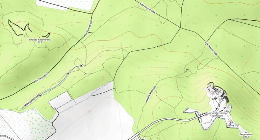 Festung Regenstein (Erstellt aus OpenStreetMap.org.)