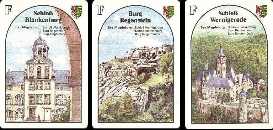 Spielkarten Quartett: Burgen in der DDR