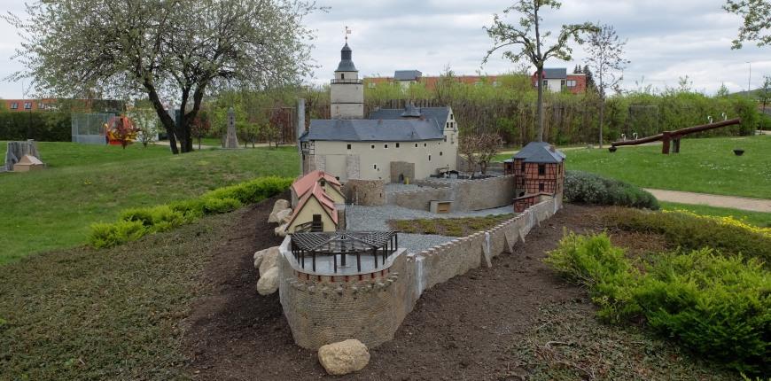 Modell der Burg Falkenstein