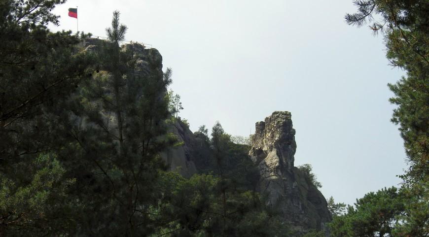 Festung Regenstein - Verlorener Posten aus nördlicher Sicht