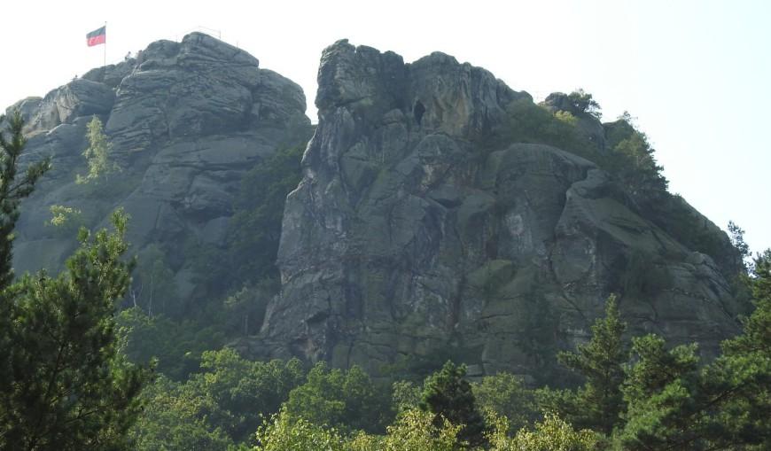 NIKON P900, Nordwestseite der Burg Regenstein. Entfernung ca. 300 m.