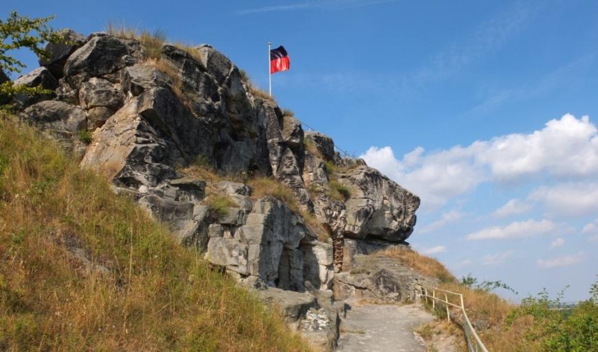 Burg Regenstein - nördlicher Aufgang auf die Felsenburg. (Foto: 2013)