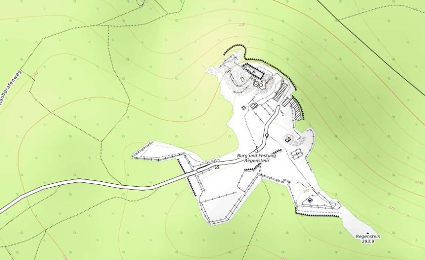 Festung Regenstein (Erstellt aus OpenTopoMap.org.)