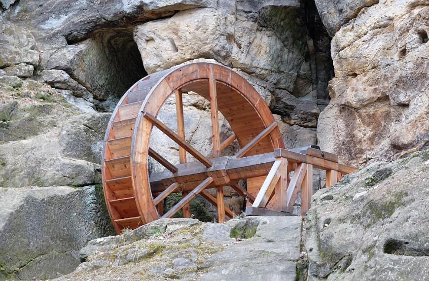 Regensteinmühle - Wasserrad. (Foto: 2016)