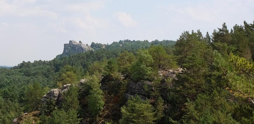 Burg Regenstein vom Papenberg aus