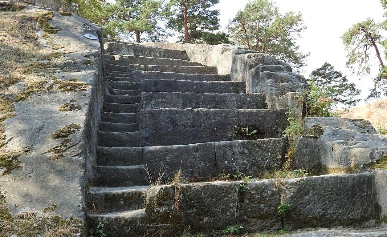 Festung Regenstein - Details der Schützentreppe. (Foto: 2018)