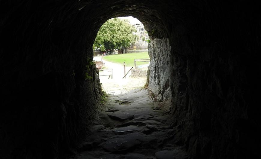 Festung Regenstein - Raubgrafentunnel. (Foto: 2018)
