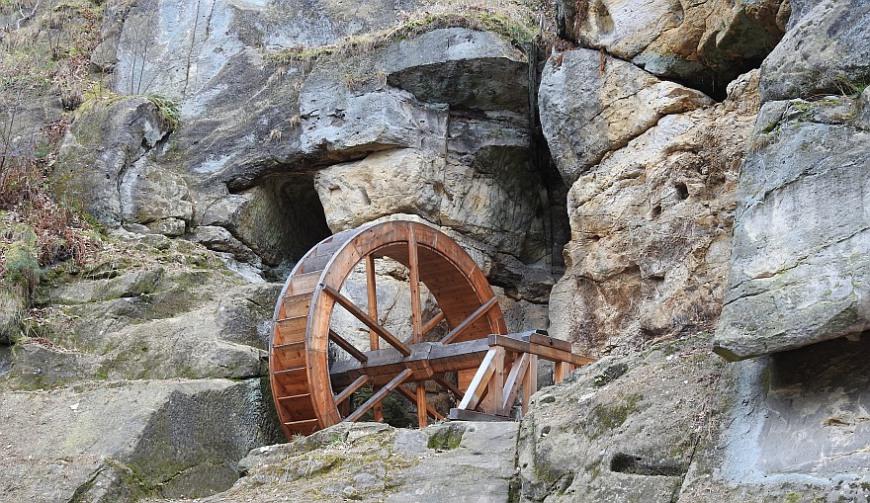 Burg Regenstein - oberes Wasserrad