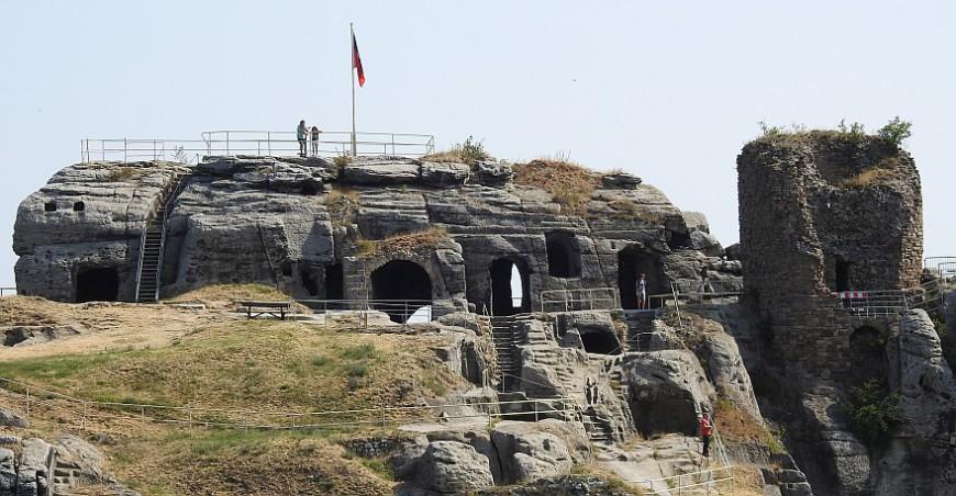 Burg und Festung Regenstein - Foto 2018, Display in der Kasematte