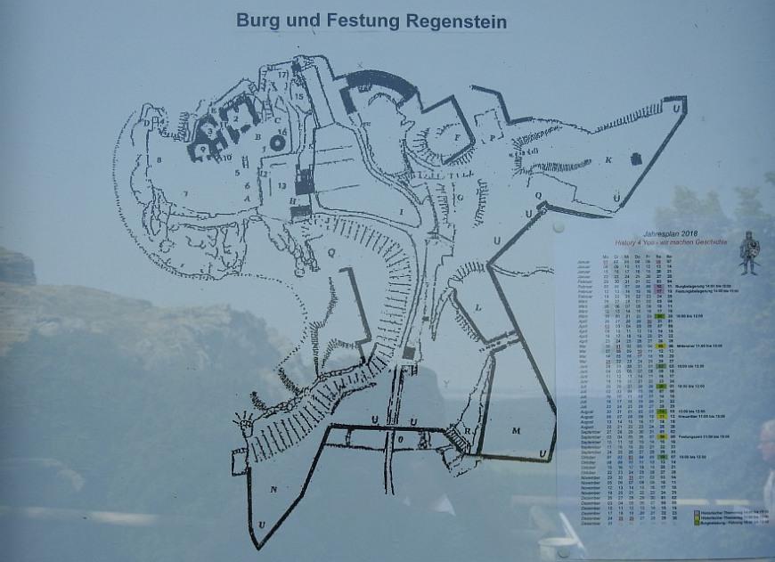 Burg und Festung Regenstein - Foto 2018, Display an der Kasse