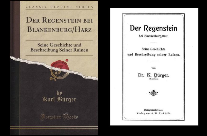Der Regenstein - Seine Geschichte und Beschreibung seiner Ruinen