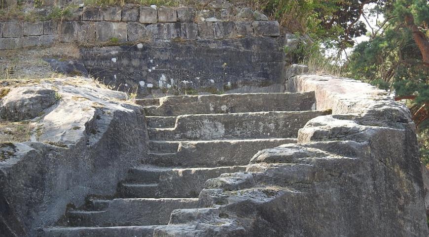 Festung Regenstein - Reste der Schützentreppe