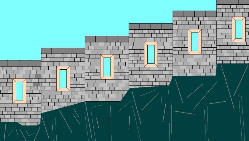 Festung Regenstein - Freie Darstellung der Schützentreppe