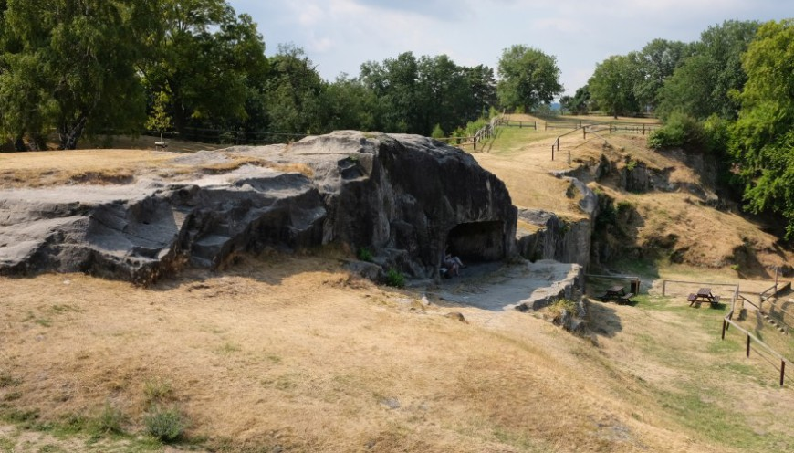 Festung Regenstein - Ansicht der Festungsoberfläche