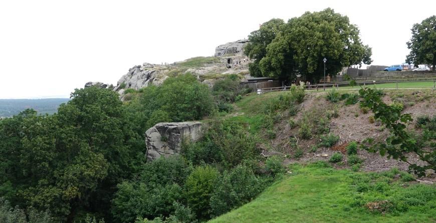 Festung Regenstein - westlicher Abhang (Foto:2020)