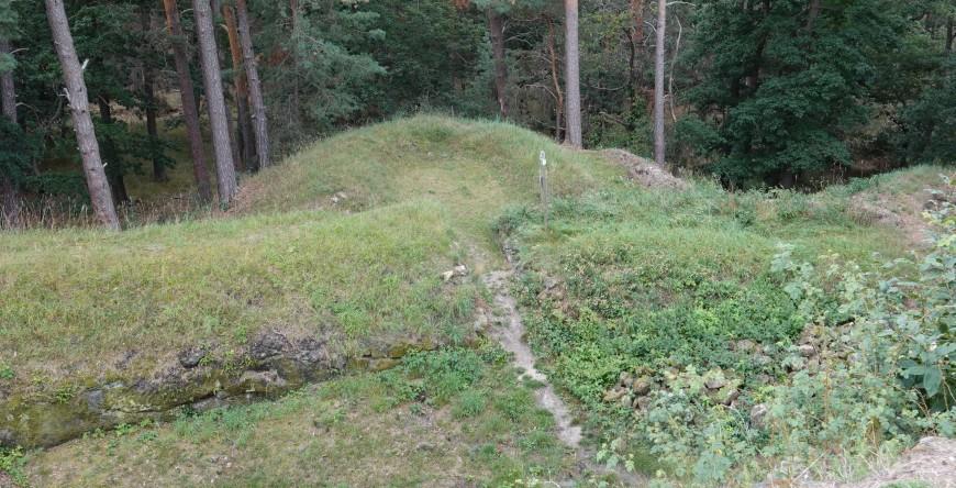 Festung Regenstein - Erdschanze (Foto: 08/2020)